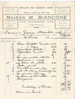 Belle Facture - Maison Bianconé à Epinal  - 1914 - Vosges  - 88 - Spécialités Pour Marchands Forains Foire Forain - France