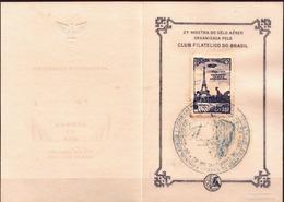 Postal History: Brazil Commemorative Card / Folhinha Comemorativa / With Zeppelin Stamp - Zeppelins
