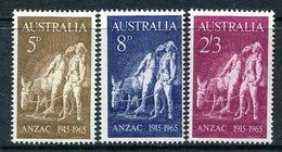 Australia 1965 50th Anniversary Of Gallipoli Landing Set MNH (SG 373-375) - 1952-65 Elizabeth II : Pre-Decimals
