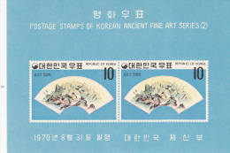 Corea Del Sur Hb 181 Al 183 Con Charnela - Corea Del Sur