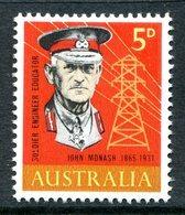 Australia 1965 Birth Centenary Of General Sir John Monash MNH (SG 378) - 1952-65 Elizabeth II : Pre-Decimals