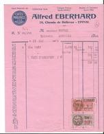 Petite Facture - Alfred Eberhard à Epinal - Pub Cafés Maurice - Les Meilleurs - Café - Vosges  - 88 - 1939 - Frankreich