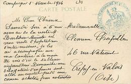 Themes Div-ref DD136-cachets - Guerre 1914-18-cachet Hopital Temporaire No 15- Compiegne -oise - Carte De Champguyon - - Guerra Del 1914-18