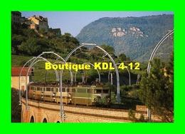 RU CA 27 - Train - Loco BB 9400 Sur Le Viaduc D' AGUESSAC - Aveyron - SNCF - Trains