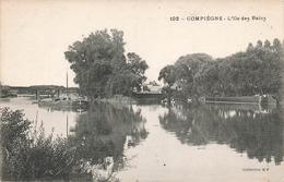 60 Compiegne L' Ile Des Bains Bateau Peniche Peniches - Compiegne