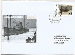 SS ELLEANOR BOLLING  BYRD SHIP ANTARCTIC EXPEDITION 1928-30 SOUTH POLE  TU SELLO ON COVER - Filatelia Polare