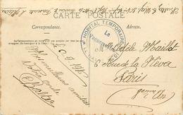 Themes Div-ref DD126-cachets - Guerre 1914-18-cachet Hopital Temporaire No 10- Le Havre - Seine Maritime -bld Dufayel  - - Guerra Del 1914-18