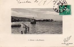 83 TOULON LES TAMARIS  ANIMEE BATEAU CARTE GAUFREE - La Seyne-sur-Mer