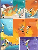 2004 QATAR Asian Games Complete Sets 7 Postcards - Qatar