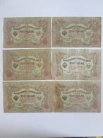 Lot 6 Russian Banknotes 3 Rubles 1905 - Munten & Bankbiljetten