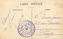 Themes Div-ref DD123-cachets -guerre 1914-18-cachet Hopital Auxiliaire No17-c J Bonnet -jujurieux -ain -chateau Echelles - WW I