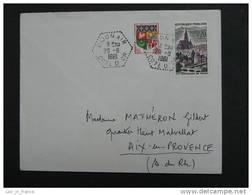 Cachet Manuel Dijon Air 29/8/1961 - Poststempel (Briefe)