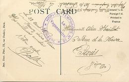 Themes Div-ref DD122-cachets -guerre 1914-18-cachet Hopital Temporaire No 10- Le Havre - Seine Maritime - - Guerra Del 1914-18