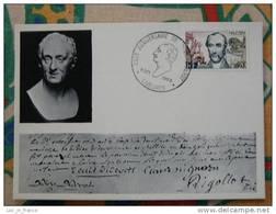 Lettre 250ème Anniversaire De Denis Diderot Langres - Ecrivains