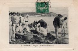 83 TOULON BALAGUIER RECOLTE DU POISSON CARTE GAUFREE - La Seyne-sur-Mer
