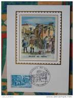 Carte Maximum Maxi Card Attelage Horse Attachment Journée Du Timbre 1973 Mont Saint Martin - Stamp's Day