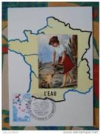 Carte Maximum Maxi Card Eau Water Chateauneuf Les Martigues - Eau