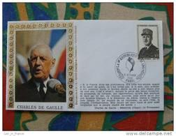 Pli Commémoratif Charles De Gaulle Paris - De Gaulle (General)
