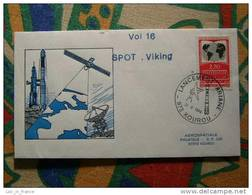 Lettre Cover Fusée Rocket Ariane V16 Kourou 22/02/1986 - Europa