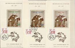 Postal History: Brazil 5 Different Commemorative Cards - U.P.U.