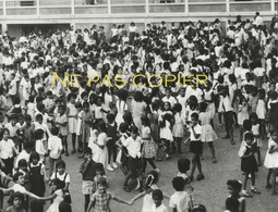 ILE MAURICE Enfants Vers 1960 Grande Photo Par V. Borlandelli - Lieux
