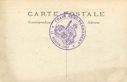 Themes Div-ref DD115-cachets -guerre 1914-18-cachet Train Semi Permanent -medecin Chef - Carte De Creil - Oise  - - Guerra Del 1914-18