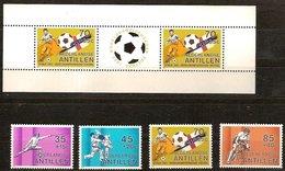Antilles Néerlandaises Antillen 1982 Yvertn° 650-653 Et Bloc 19 *** MNH Cote 11,50  € Sport - Antilles