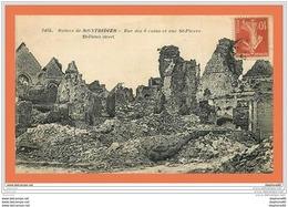 A606 / 567 80 - MONTDIDIER Ruines Rue Des 6 Coins Et Rue St Pierre - Frankrijk