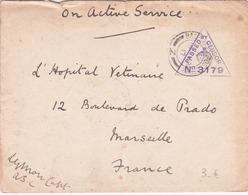 France - Lettre - Censurée Passed By Censor N°3179 - Base Army Post -1917 - Expédié D'Alexandrie +courrier Compris -RARE - Marcofilia (sobres)
