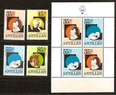 Antilles Néerlandaises Antillen 1981 Yvertn° 640-643 Et Bloc 18 *** MNH Cote 11,50  € Surtaxe Pour Les Enfants - Antilles