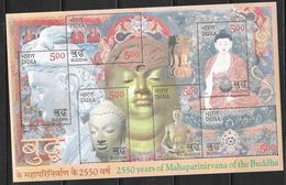 INDIA, 2007, MNH, RELIGIONS, BUDDHISM, BUDDHA, SHEETLET - Buddhismus