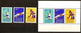 Antilles Néerlandaises Antillen 1981 Yvertn° 632-634 Et Bloc 16 *** MNH Cote 8,25  € Surtaxe Sport - Antilles