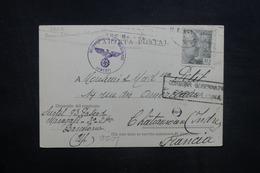 ESPAGNE - Carte De Correspondance De Barcelone Pour La France En 1943 Avec Contrôles Postaux - L 41513 - Marcas De Censura Nacional