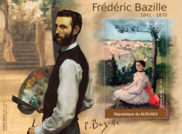 BURUNDI 2012 - Paintings Of Frederic Bazille S/S. Official Issues. - Burundi