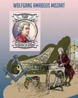 BURUNDI 2013 - Wolfgang Amadeus Mozart S/S. Official Issues. - Burundi