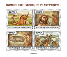 BURUNDI 2013 - Prehistoric Humans M/S. Official Issues. - 2010-..: Mint/hinged