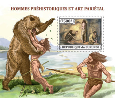 BURUNDI 2013 - Prehistoric Humans S/S. Official Issues. - 2010-..: Mint/hinged