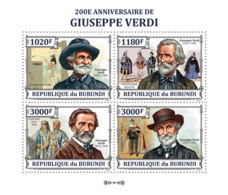 BURUNDI 2013 - Giuseppe Verdi M/S. Official Issues. - Burundi