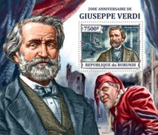 BURUNDI 2013 - Giuseppe Verdi S/S. Official Issues. - Burundi