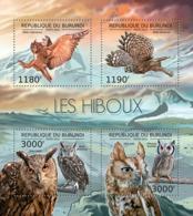 BURUNDI 2012 - Owls M/S. Official Issues. - Burundi