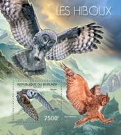 BURUNDI 2012 - Owls S/S. Official Issues. - Burundi