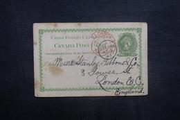 CANADA - Entier Postal De Ottawa Pour Londres En 1893 - L 41517 - Briefe U. Dokumente