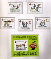 MAURITANIA - MAURITANIE 1980 - WORLD CUP SPAIN'82 - YVERT Nº PA 195/199** + BF 29 - 1982 – Espagne