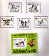 MAURITANIA - MAURITANIE 1980 - WORLD CUP SPAIN'82 - YVERT Nº PA 195/199** + BF 29 - Mauritania (1960-...)