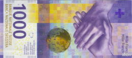 Suisse 1000 Francs (Pnew) 2017 (Pref: R) Sig: Studer&Zurbrügg -UNC- - Suisse