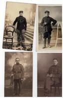 Originele Oude Foto Van 4 Belgische Soldaten - Personnages