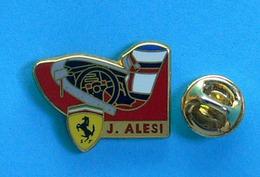 1 PIN'S //   ** FERRARI / COCKPIT JEAN ALESI ** . (Arthus Bertrand Paris) - Ferrari