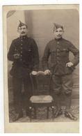 Originele Oude Foto Van 2 Belgische Soldaten Omgeving Mechelen (fotoraaf O.GUNCKEL Malines) - Personnages