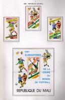 MALI 1982 - WORLD CUP SPAIN'82 - 3 STAMPS + YVERT Nº PA 411/413**+ BF 13** - Malí (1959-...)