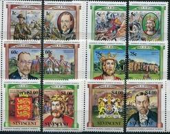 Saint Vincent, 1984 English Monarchs, 12 Stamps - Royalties, Royals